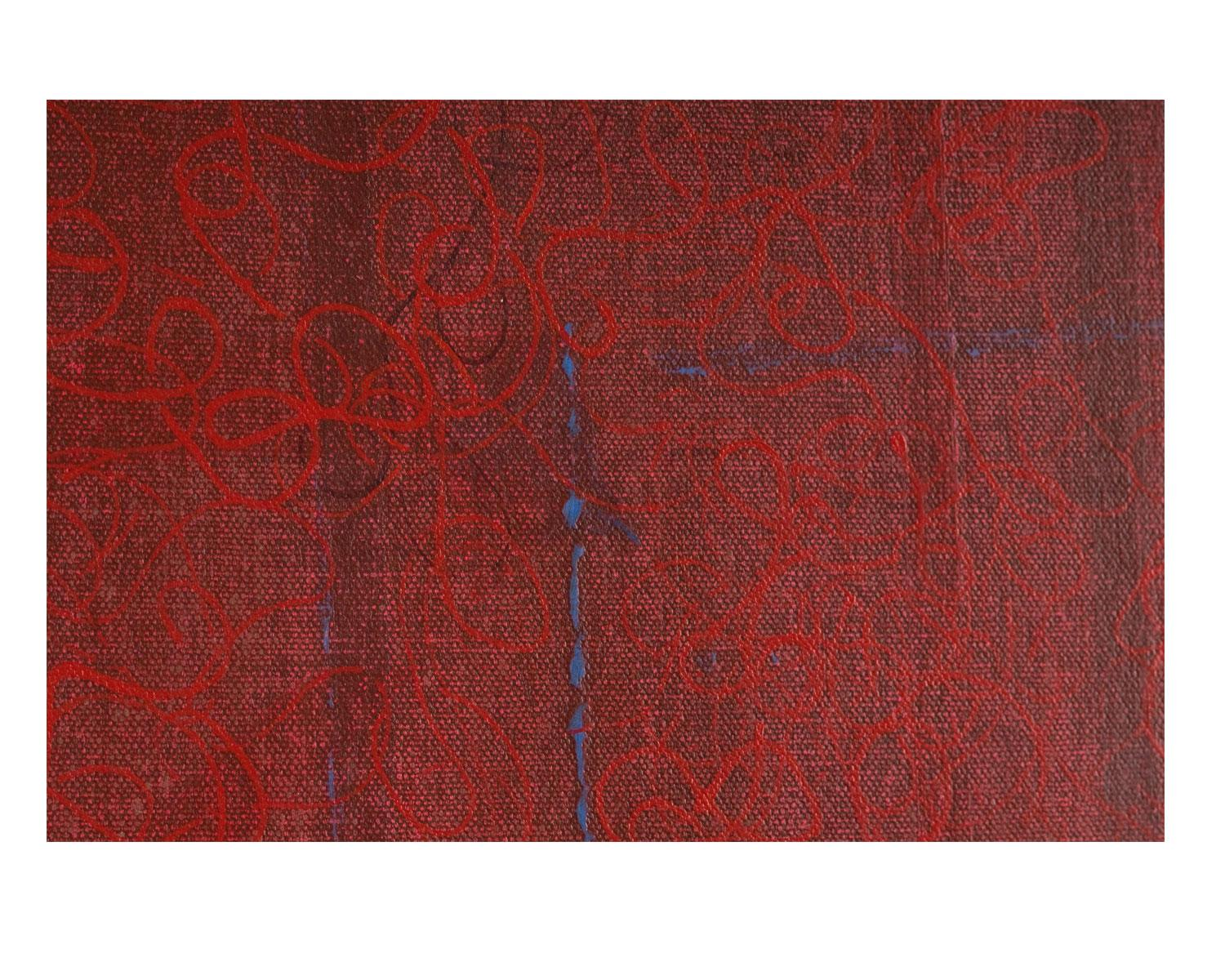 Untitled four panels detail (red)